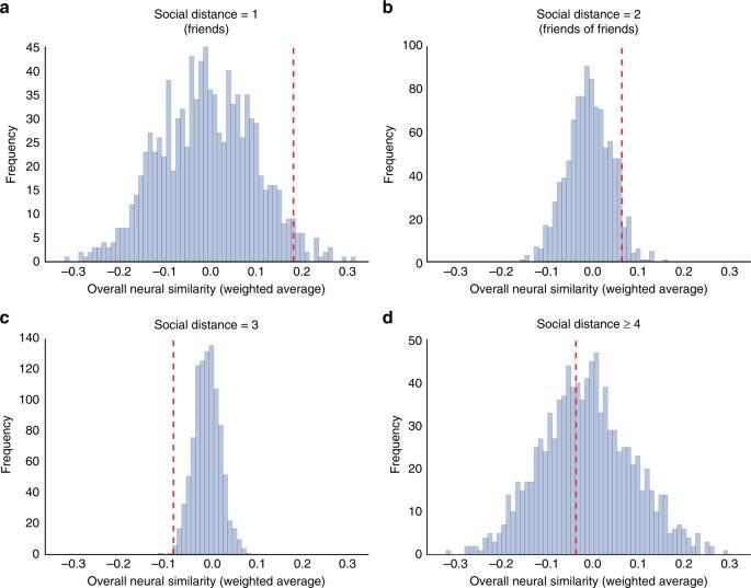 Similar neural responses predict friendship | Nature