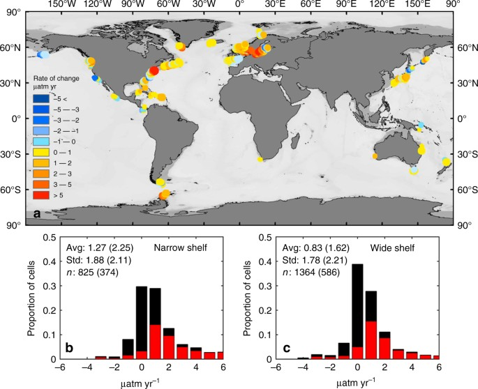 Continental shelves as a variable but increasing global sink