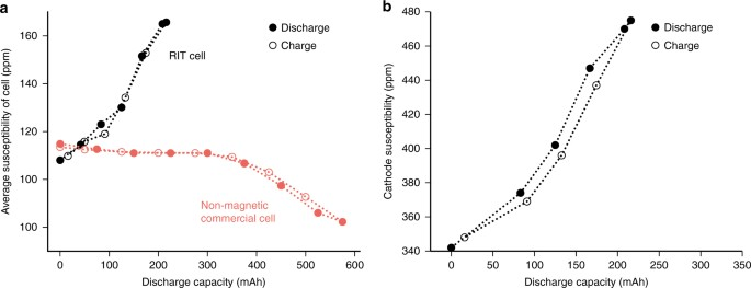 Rechargeable lithium-ion cell state of charge and defect