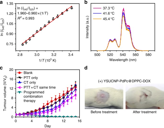 Upconversion nanocomposite for programming combination