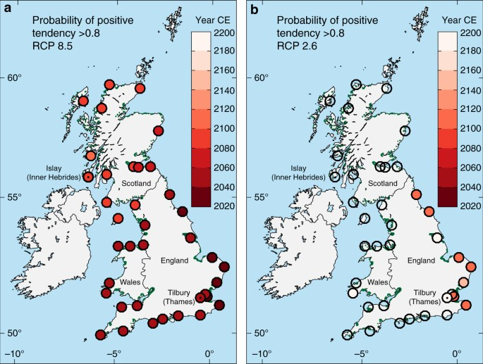 Map Of Uk If Sea Levels Rise.Predicting Marsh Vulnerability To Sea Level Rise Using Holocene