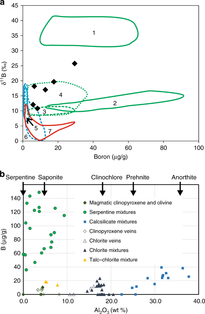 No significant boron in the hydrated mantle of most