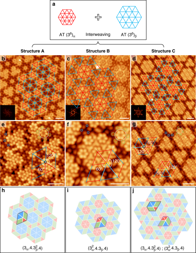 Two-dimensional tessellation by molecular tiles constructed