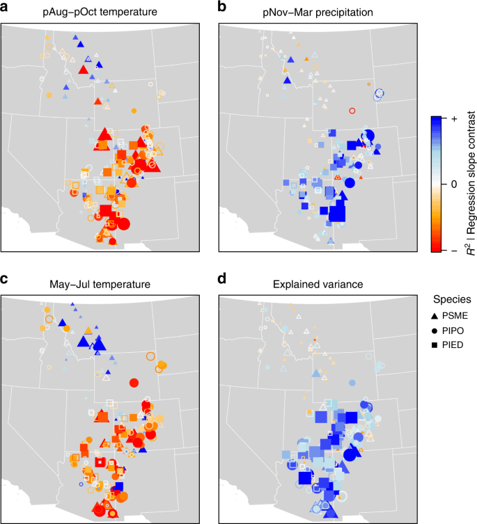 Sampling bias overestimates climate change impacts on forest