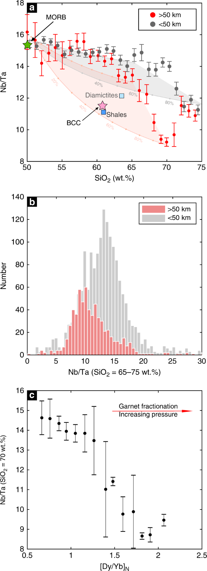 Nb/Ta systematics in arc magma differentiation and the role