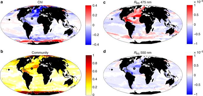 Ocean colour signature of climate change | Nature Communications