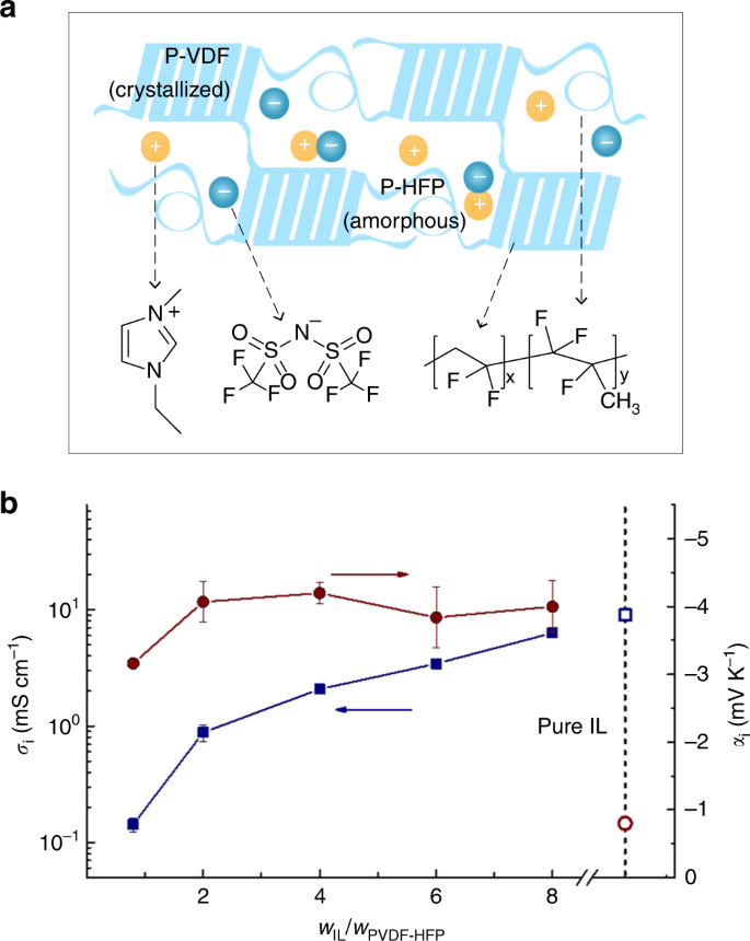 Polymer gels with tunable ionic Seebeck coefficient for ultra
