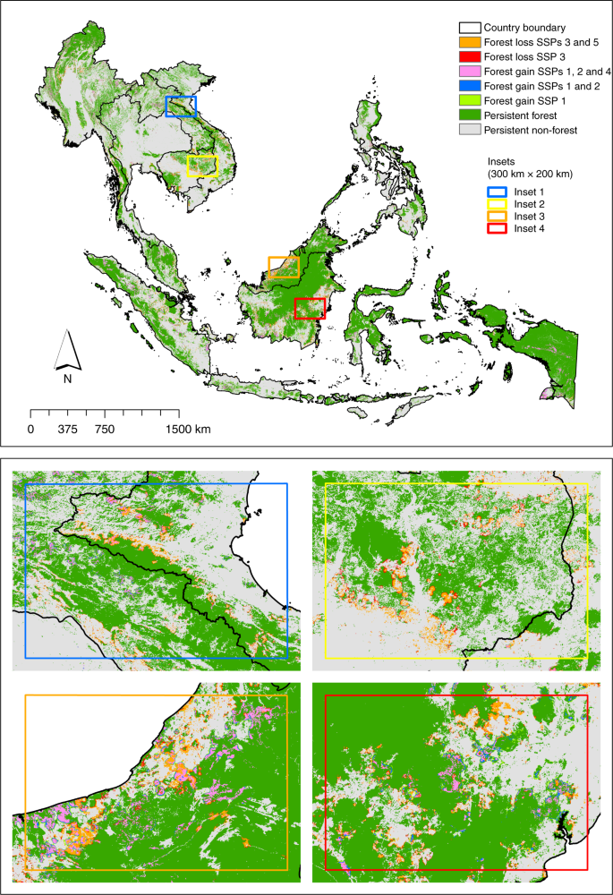 Boundary Map Of Asia.The Future Of Southeast Asia S Forests Nature Communications