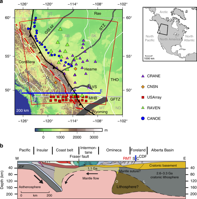 Seismic Evidence For A Mantle Suture And Implications For The Origin Of The Canadian Cordillera Nature Communications
