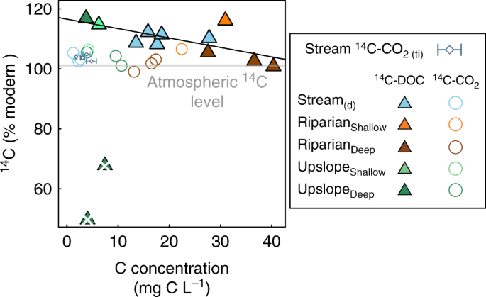 Current Forest Carbon Fixation Fuels Stream Co 2 Emissions