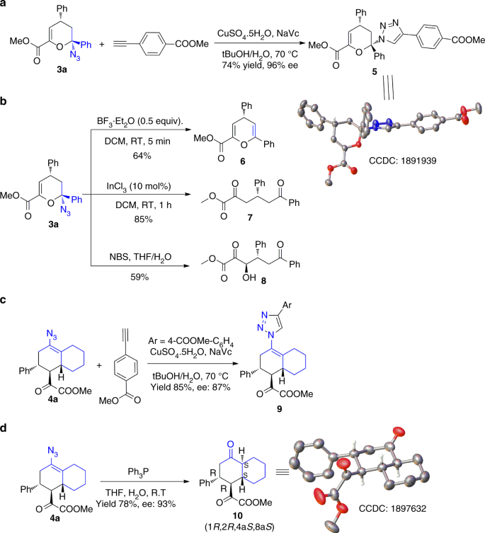 Divergent synthesis of chiral cyclic azides via asymmetric