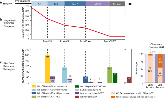 Liquid biopsy tracking during sequential chemo-radiotherapy identifies