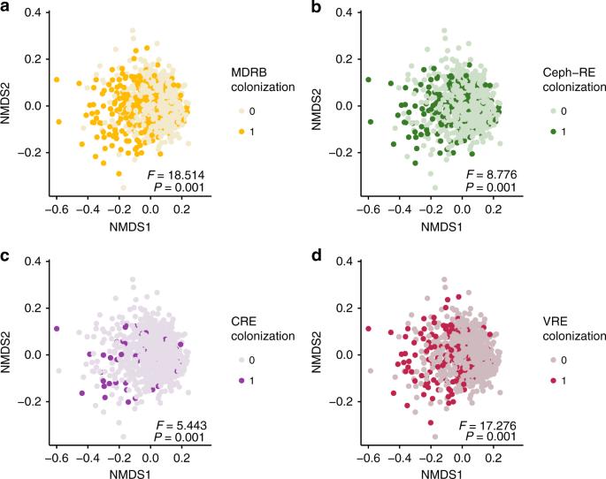 Colonizing multidrug-resistant bacteria and the longitudinal evolution