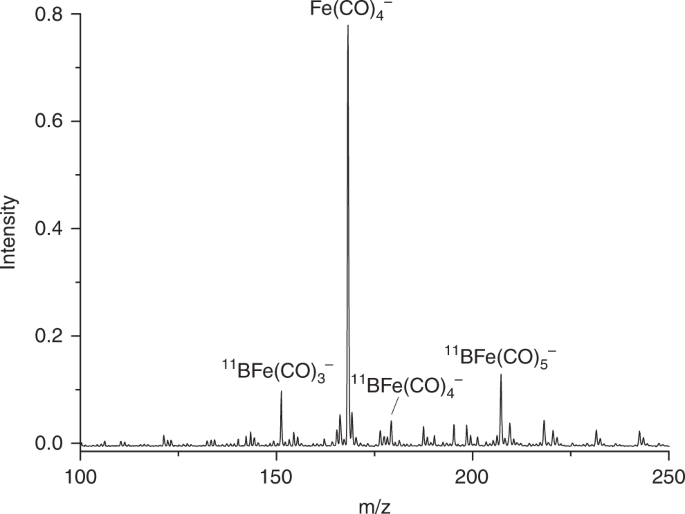 Quadruple bonding between iron and boron in the BFe(CO) 3 − comp