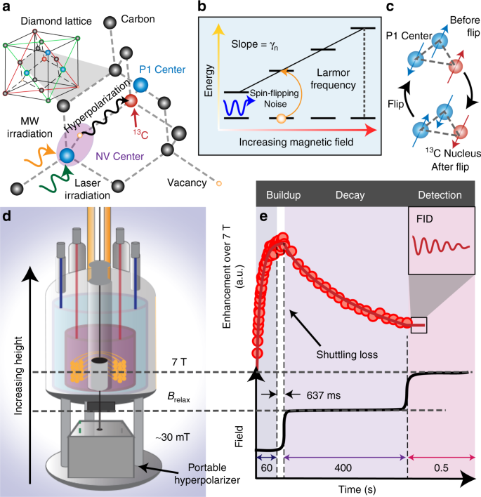 Hyperpolarized Relaxometry Based Nuclear T 1 Noise Spectroscopy In Diamond Nature Communications