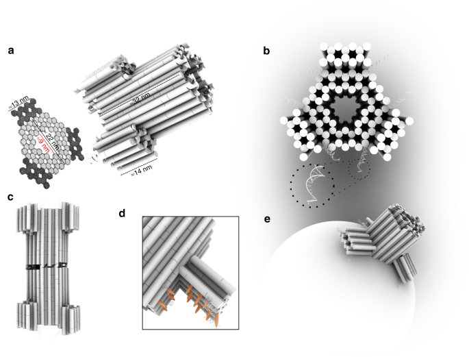 A large size-selective DNA nanopore with sensing applications