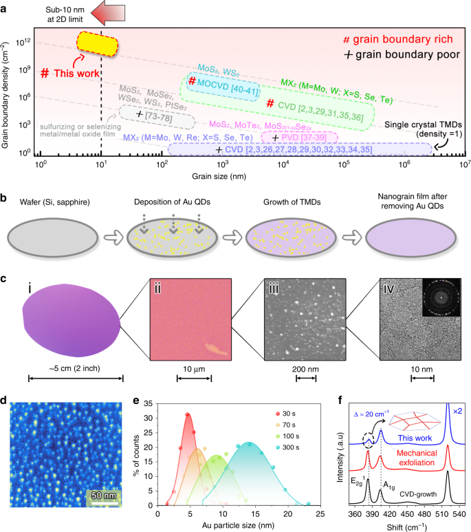 Engineering Grain Boundaries At The 2d Limit For The Hydrogen Evolution Reaction Nature Communications