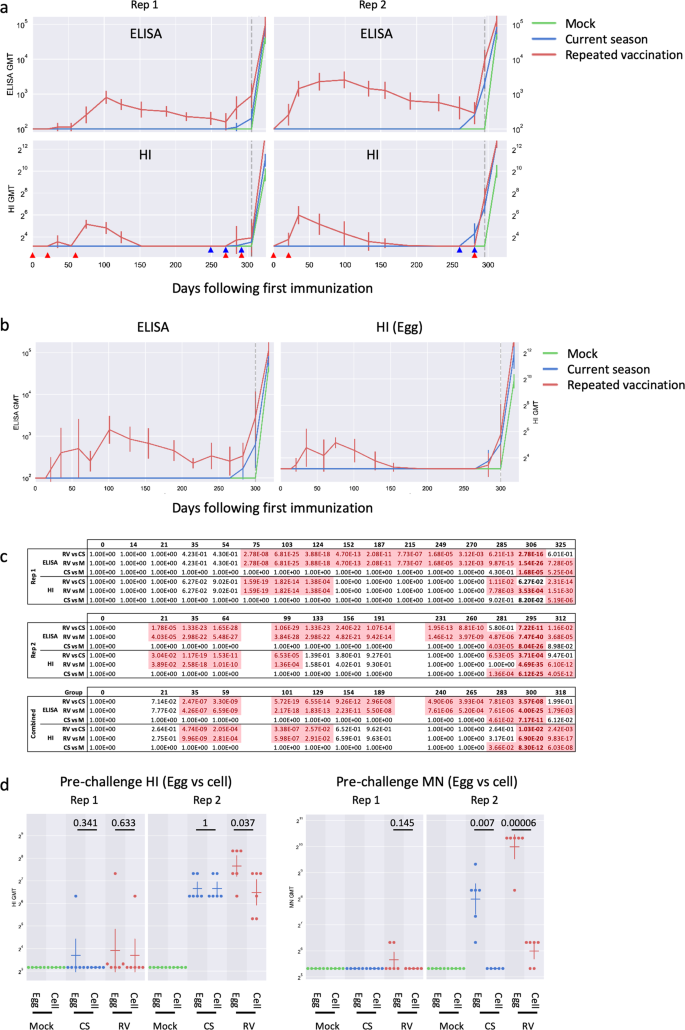 Repeated Vaccination Against Matched H3n2 Influenza Virus Gives Less Protection Than Single Vaccination In Ferrets Npj Vaccines