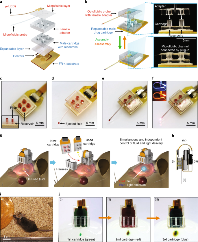 Wireless optofluidic brain probes for chronic neuropharmacology and