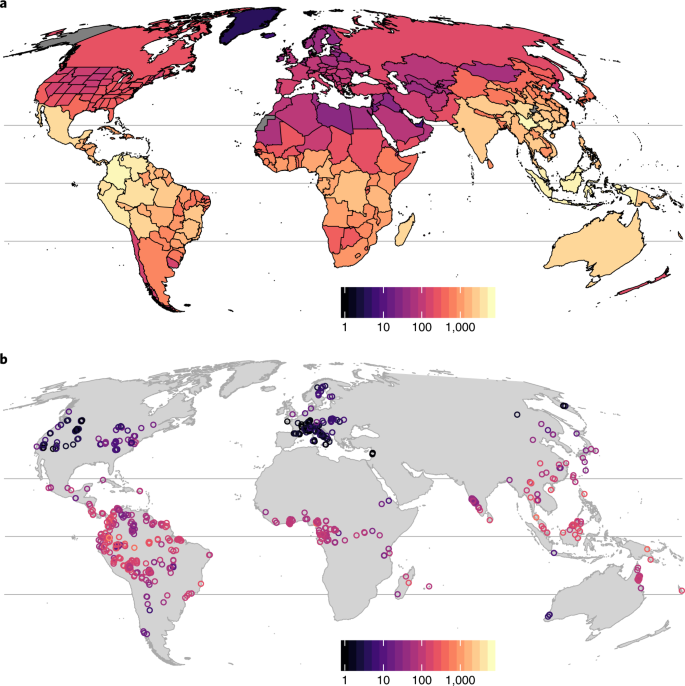 Global patterns and drivers of tree diversity integrated
