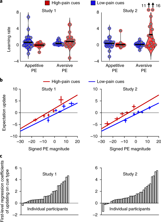 Behavioural and neural evidence for self-reinforcing expectancy