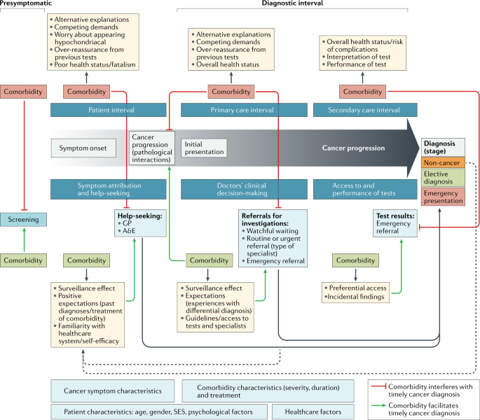Comorbid chronic diseases and cancer diagnosis: disease-specific