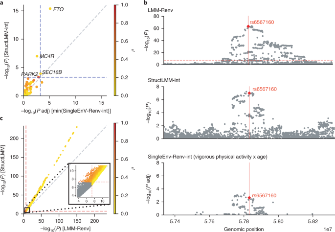 A linear mixed-model approach to study multivariate gene
