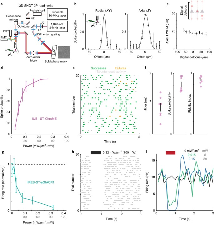 Precise multimodal optical control of neural ensemble