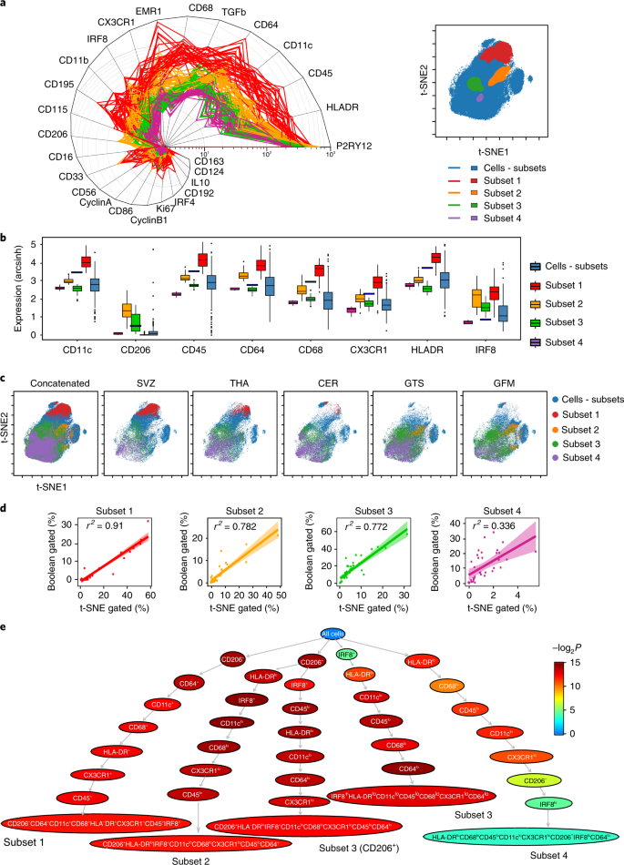 Human microglia regional heterogeneity and phenotypes