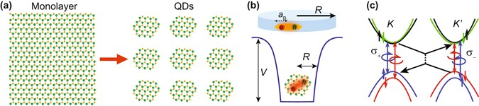Size Tunable Lateral Confinement In Monolayer Semiconductors Scientific Reports