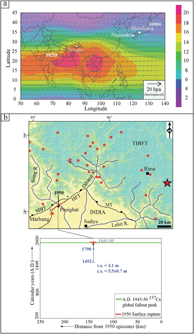 Primary surface rupture of the 1950 Tibet-Assam great earthquake