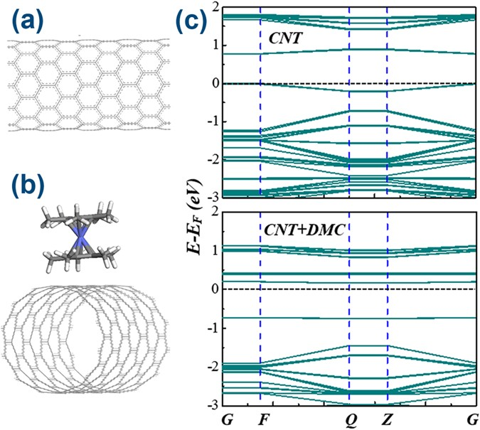 Efficient and Reversible Electron Doping of Semiconductor-Enriched