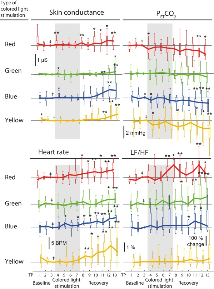 Continuous coloured light altered human brain haemodynamics and