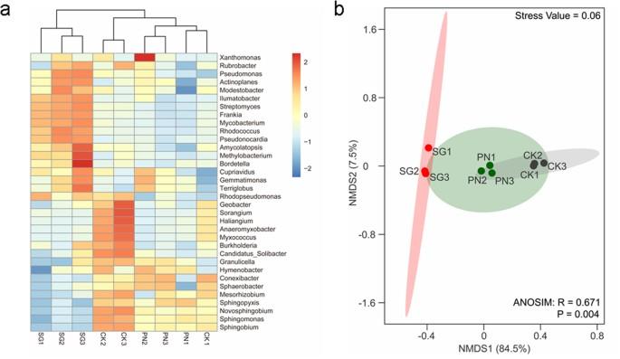 Metagenomic evidence of stronger effect of stylo (legume