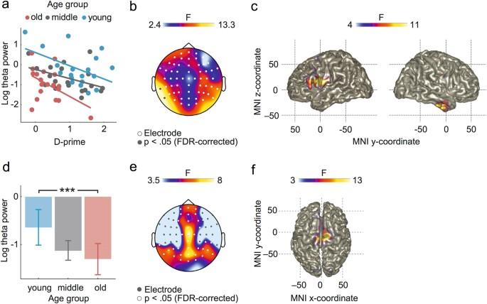 Temporally and spatially distinct theta oscillations
