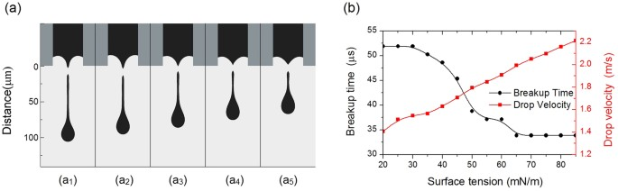 The roles of wettability and surface tension in droplet