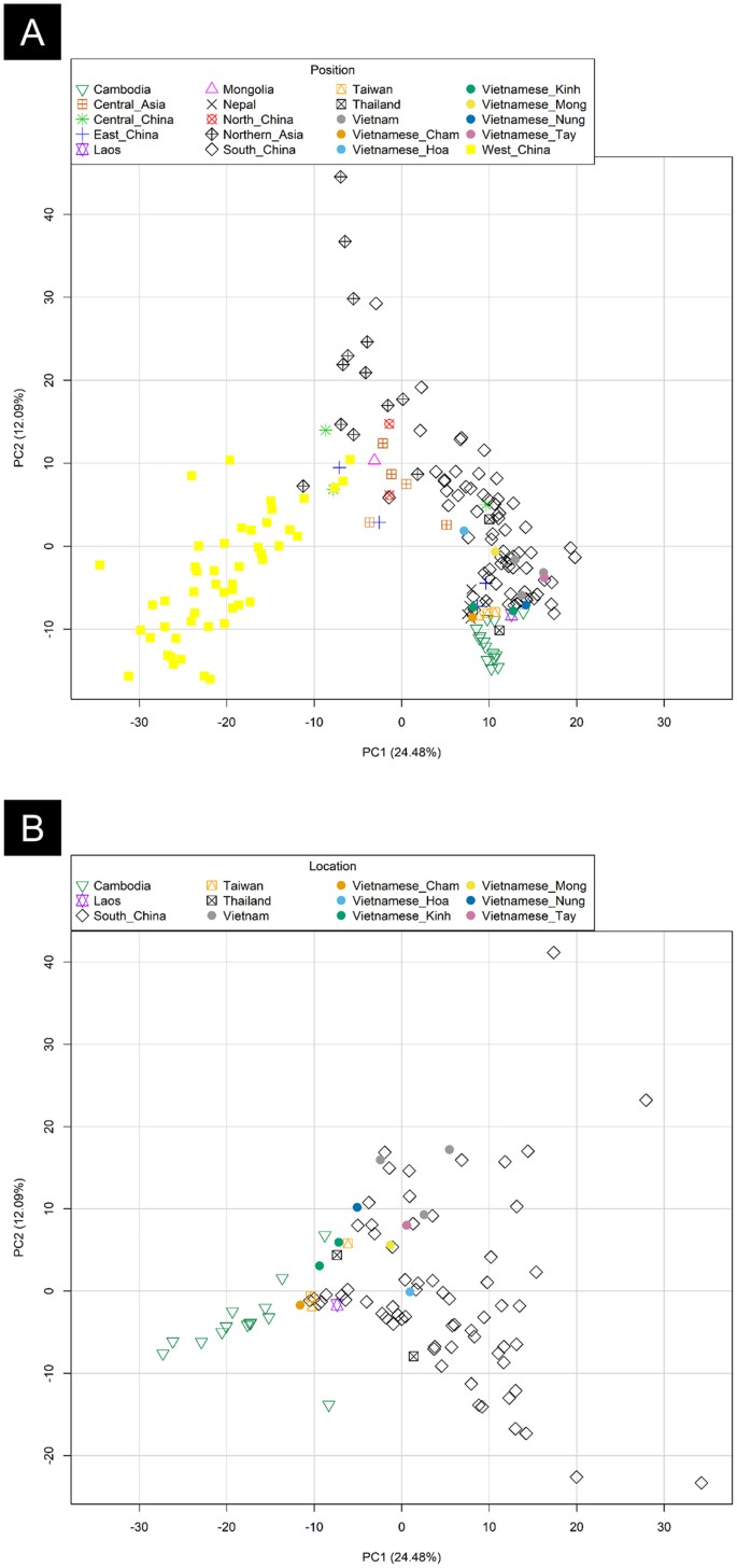 Phylogeographic and genome-wide investigations of Vietnam ethnic