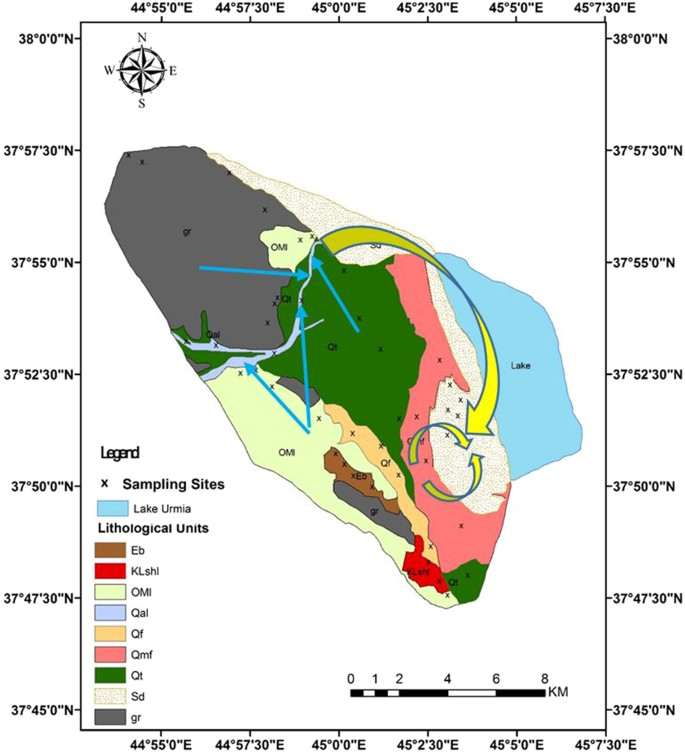 Sediment Source Fingerprinting of the Lake Urmia Sand Dunes
