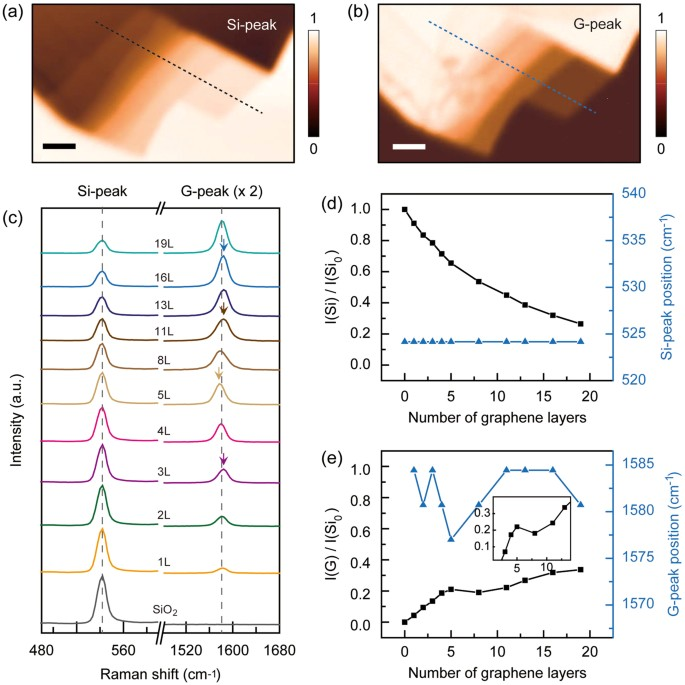 Layer number identification of CVD-grown multilayer graphene using