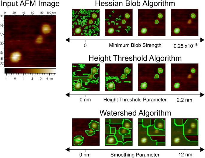 The Hessian Blob Algorithm: Precise Particle Detection in Atomic