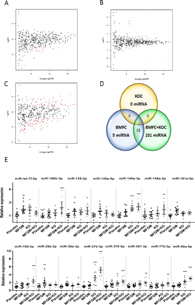 Modulation of miRNA expression in aged rat hippocampus by