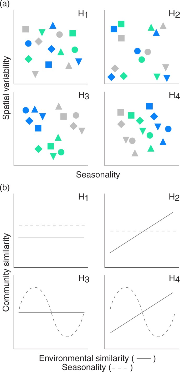 Spatio-temporal dynamics of soil bacterial communities as a