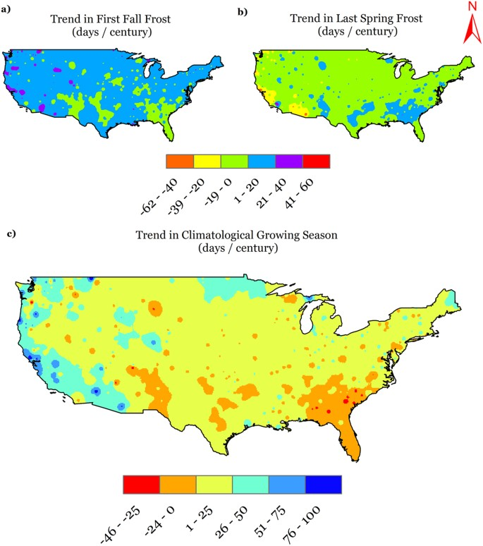 U S  Agro-Climate in 20 th Century: Growing Degree Days, First and