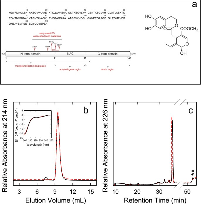 Oleuropein aglycone stabilizes the monomeric α-synuclein and