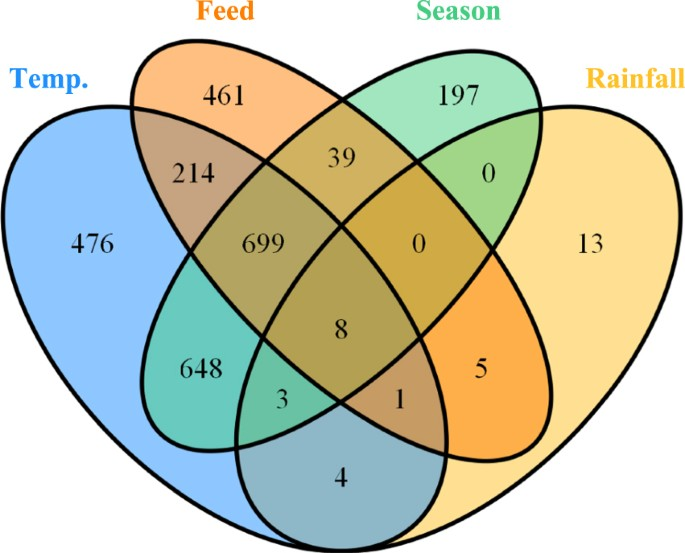 Variation in faecal microbiota in a group of horses managed