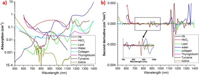 Broadband (550–1350 nm) diffuse optical characterization of