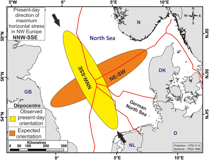 Map Of Germany North Sea.Rapid Quaternary Subsidence In The Northwestern German North Sea