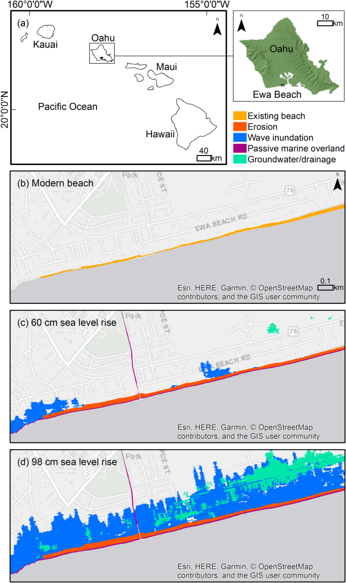 Modeling multiple sea level rise stresses reveals up to