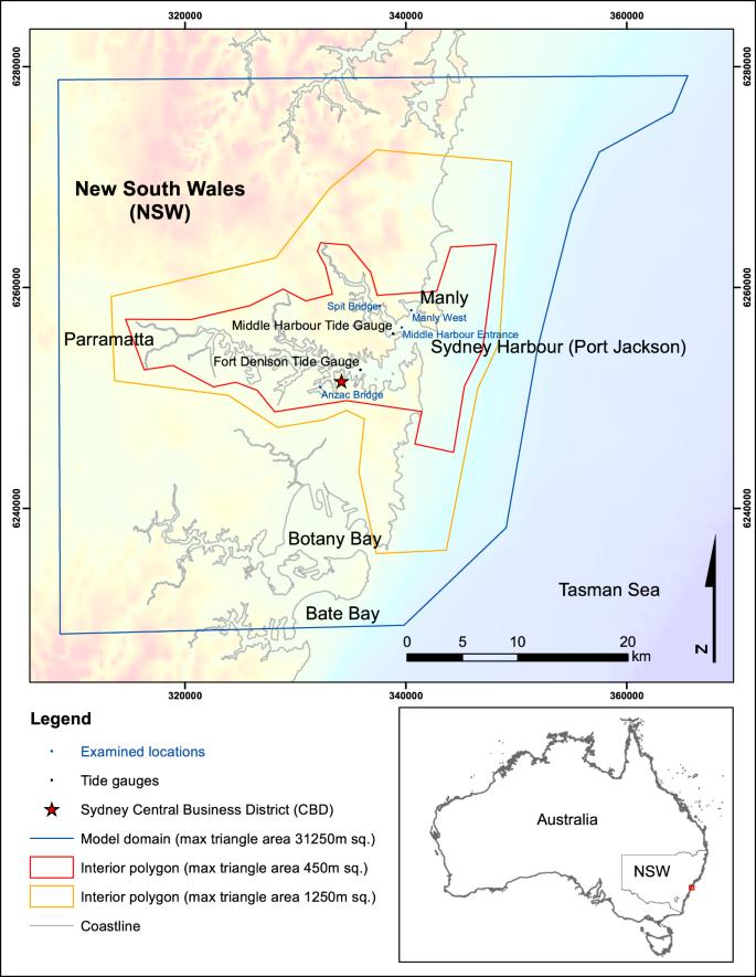 Map Grid Of Australia Zone 50.The Tsunami Threat To Sydney Harbour Australia Modelling Potential
