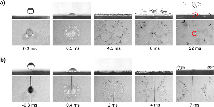 Effect of superamphiphobic macrotextures on dynamics of